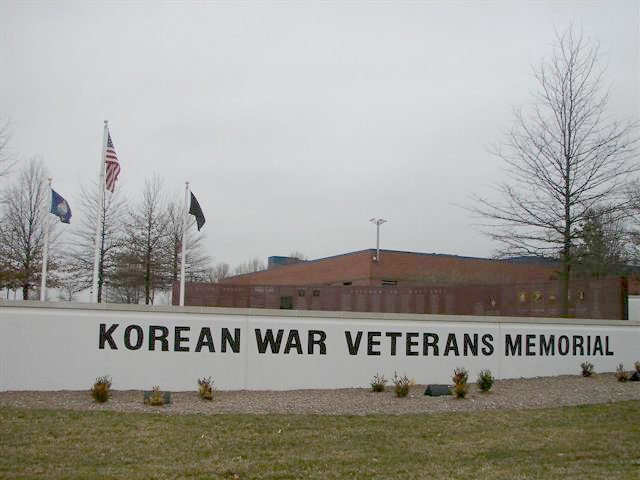 The front of the Memorial on 119th street in Overland Park, KS
